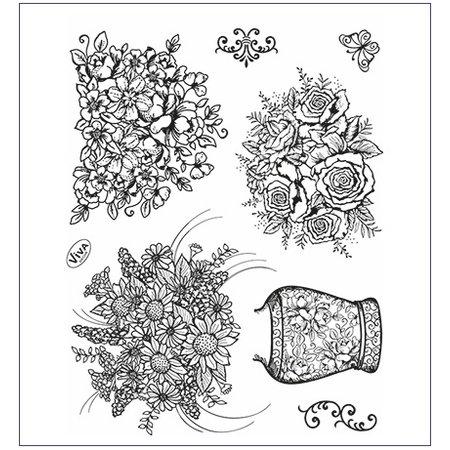Viva Dekor und My paperworld Clear stamps, Temple vase