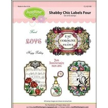Justrite Shabby Chic label Cling Stamp Set