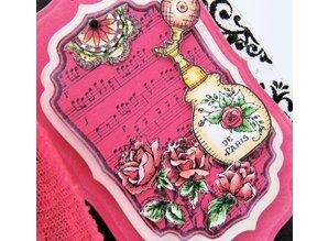 JUSTRITE AUS AMERIKA Justrite elegante lamentable etiqueta Cling Stamp Set