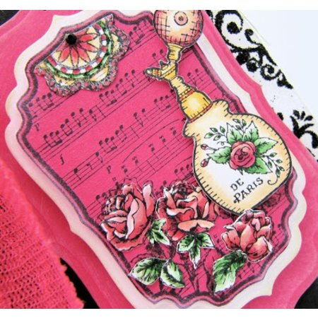 JUSTRITE AUS AMERIKA Justrite Shabby Chic Labels Cling Stamp Set