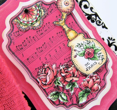 Justrite Shabby Chic Labels Cling Stamp Set