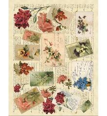 DECOUPAGE AND ACCESSOIRES Soft paper 50x70cm - Memories 1