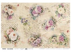 DECOUPAGE AND ACCESSOIRES Blødt papir 50x70cm - Romantik
