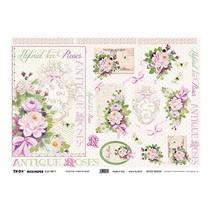 Rice Paper 35 x 50cm - Hybrid Tea Roses