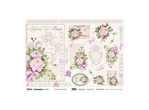 DECOUPAGE AND ACCESSOIRES Carta di riso 35 x 50 centimetri - Ibridi di Tea Rose