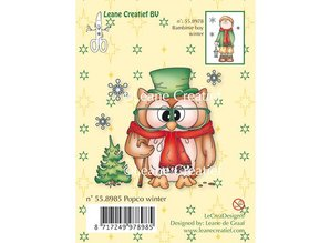 Leane Creatief - Lea'bilities Mini Timbri trasparenti, Stamp - PopCo inverno