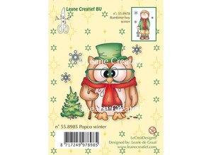 Leane Creatief - Lea'bilities Sellos Transparentes Mini, Stamp - Popco invierno