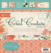 DCWV und Sugar Plum Blocco Designer, Coral Couture Carta Stack
