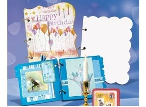 "Scrapbooking ... Blank mini album, ""passe-partout"", 800 gr / sqm, 6 sheets"