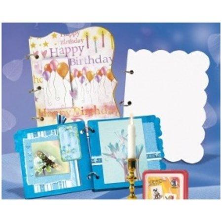 """Scrapbooking ... Blanko Album Maxi """"Wellen"""", 800 gr/qm, 6 Blatt,"""