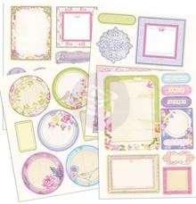 Prima Marketing und Petaloo Chipboards Sticker, Prima Marketing