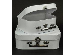 Objekten zum Dekorieren / objects for decorating 2 Koffer, Weiß