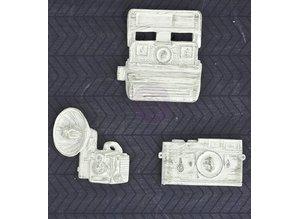 Embellishments / Verzierungen Prima -Resin 3 Cameras