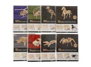 Objekten zum Dekorieren / objects for decorating 3D Puzzle, dinosaurs, 33x8x23 wood LxWxH cm