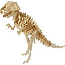 3D Puzzle, dinosaurer, 33x8x23 træ LxBxH cm