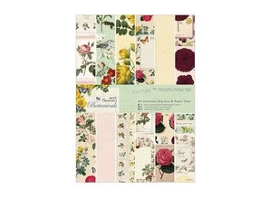 DESIGNER BLÖCKE  / DESIGNER PAPER Bloque diseñador, A4, diseños mágicos, Botanicals