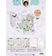 Objekten zum Dekorieren / objects for decorating Kit Scheda MDF Pakket incl.papier - teiera Janneke Brinkman