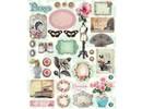 Vintage, Nostalgia und Shabby Shic Vintage, A4 spånplade Tres Chic Nr.1 med over 30 dele