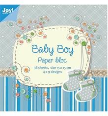 Joy!Crafts und JM Creation Blocco di carta, 15x15cm, Baby Boy