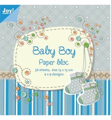 Joy!Crafts und JM Creation Papir blok, 15x15cm, Baby Boy