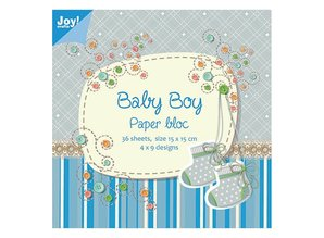 Joy!Crafts und JM Creation Paper block, 15x15cm, Baby Boy