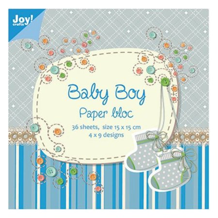 Joy!Crafts und JM Creation Papir blok, 15x15cm, Baby Boy