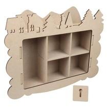 Artesanía Kits MDF, caja de recogida, decoración de invierno