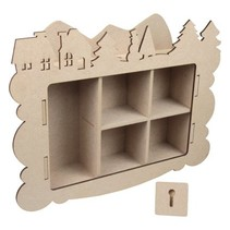 Handwerk Kits MDF, collectebus, Winter decoratie