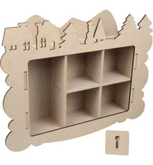 Objekten zum Dekorieren / objects for decorating Handcraft Kits MDF, collecting box, Winter decoration