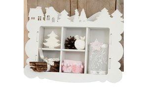 Objekten zum Dekorieren / objects for decorating Bastelset MDF, Sammelkasten, Winter Dekoration