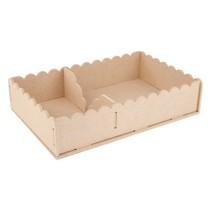 Handwerk Kits MDF, container servetten 29 x 19 x 6cm