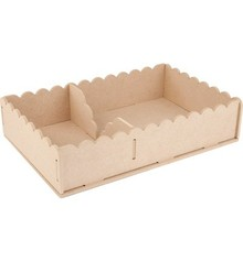 Objekten zum Dekorieren / objects for decorating Handcraft Kits MDF, container napkins 29 x 19 x 6cm