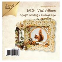 Håndværk Kits MDF, MDF bog 4x tættere / 1x open frame