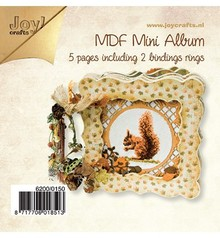 Joy!Crafts und JM Creation Artigianato Kit MDF, MDF libro 4x più densa / 1x open frame