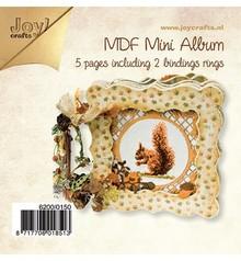 Joy!Crafts und JM Creation Bastelset MDF, MDF Büchlein 4x dichter / 1x offener Rahmen