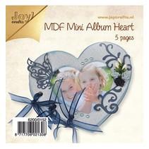 Artigianato Kit MDF, mini album Cuore