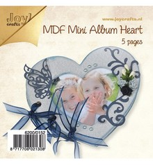 Joy!Crafts und JM Creation Artigianato Kit MDF, mini album Cuore