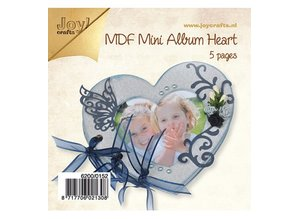 Joy!Crafts und JM Creation Håndværk Kits MDF, mini album Heart