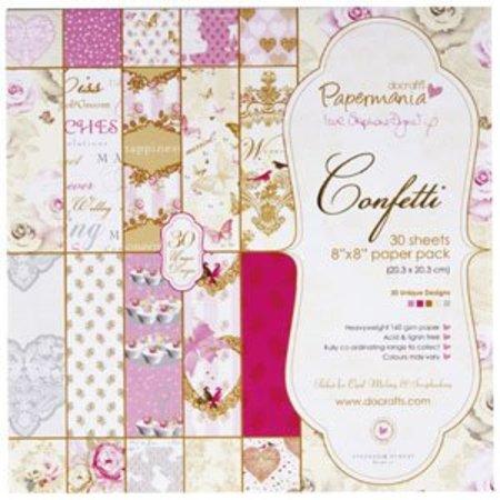 Papermania Bloquear papel, 20.3 x 20.3cm, Confeti