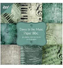 Joy!Crafts und JM Creation Paper bloc, 15x15cm - Dance to the Music