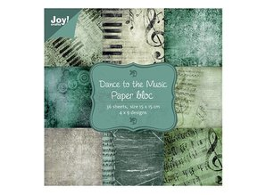 Joy!Crafts und JM Creation Papir blok, 15x15cm - Dans til musik