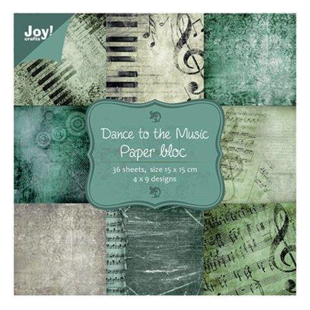 Joy!Crafts und JM Creation Bloque de papel, 15x15cm - Dance to the Music