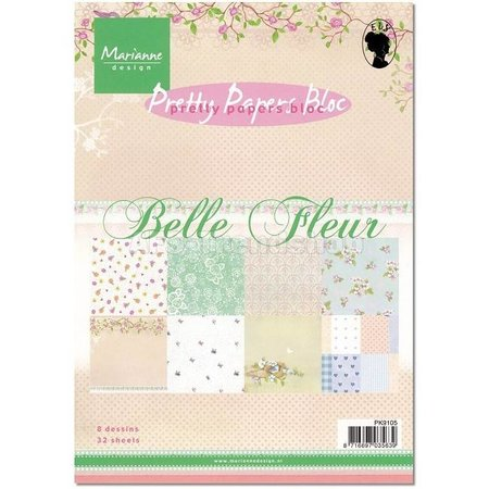 Marianne Design Papeles bonitas, A5, Belle Fleur