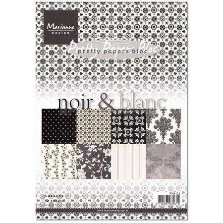 DESIGNER BLÖCKE  / DESIGNER PAPER Smukke Papers, A5, noir & sort
