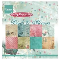 Marianne Design, Smukke Papers - 15,2 x 15,2 cm - Fugle og blomster