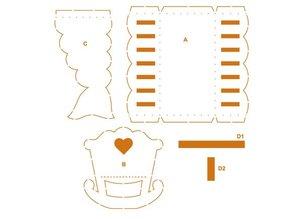 Dekoration Schachtel Gestalten / Boxe ... Emballage skabelon klapvogn