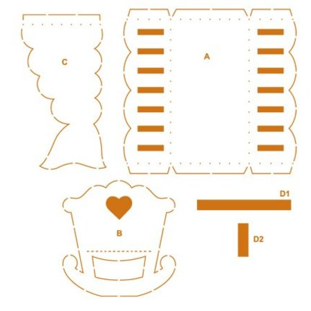 Dekoration Schachtel Gestalten / Boxe ... Verpackungs-Schablone Kinderwagen