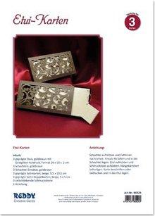 BASTELSETS / CRAFT KITS: Bastelpackung für 3 edele Etuikarten mit Anleitung