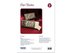 BASTELSETS / CRAFT KITS: Card kit for 3 noble Etuikarten with instructions