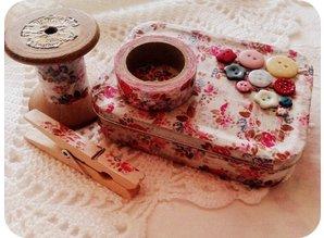 Textil Selvklæbende stof blomster, 30,5 x 30,5 cm